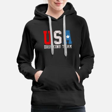 USA PARTY DRINKING - Women's Premium Hoodie