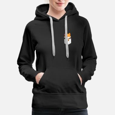 Fox In Pocket Funny Fox Tee Gift - Women's Premium Hoodie