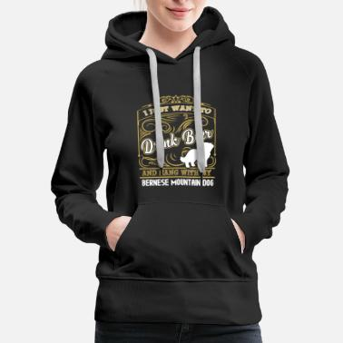 Dog Bernese Mountain Dog Tee - Women's Premium Hoodie