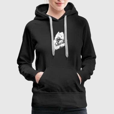Racing Machine Snowmobile Racing Shirt Maine Snowmobile Machine - Women's Premium Hoodie