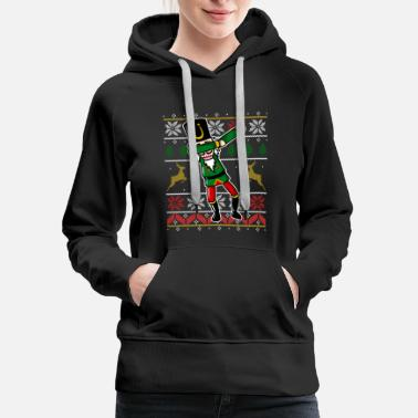 Funny Dabbing Nutcracker Ugly Christmas Sweater - Women's Premium Hoodie