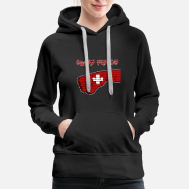 Swiss Cross Swiss Punch with Swiss Cross - Women's Premium Hoodie