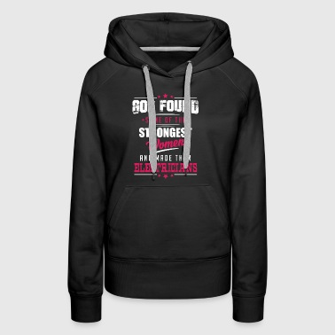 God Made Electricians - Women's Premium Hoodie