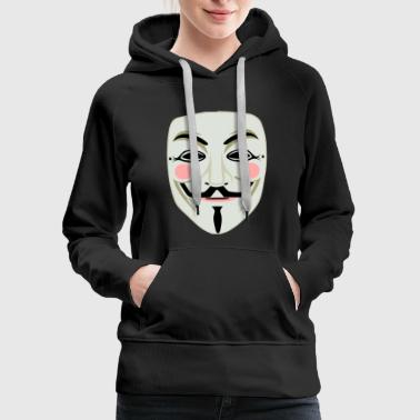 Anonymous face mask - Women's Premium Hoodie