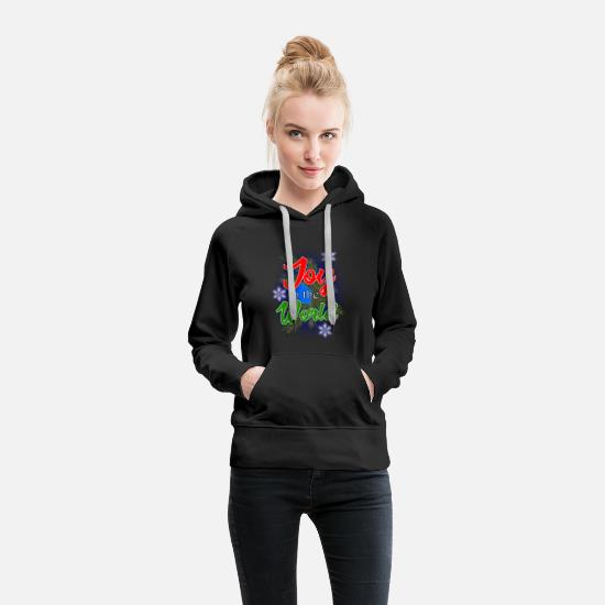 Christmas Hoodies & Sweatshirts - Joy To The World - Women's Premium Hoodie black