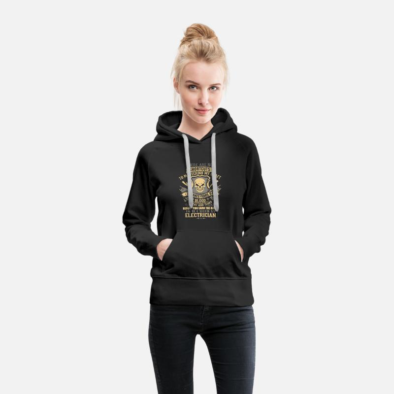 Electrician Shirt Hoodies & Sweatshirts - Electrician Shirt - Women's Premium Hoodie black