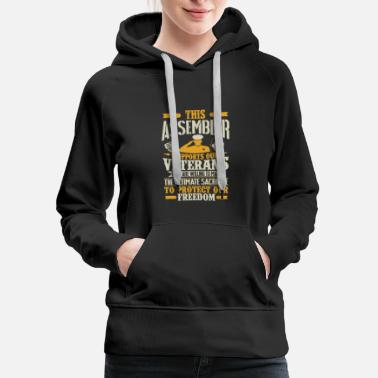 Assembly Assembler Vetran Protect Supports - Women's Premium Hoodie