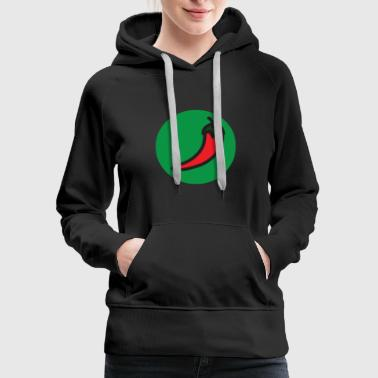 Chili Superpower: chili pepper - Women's Premium Hoodie
