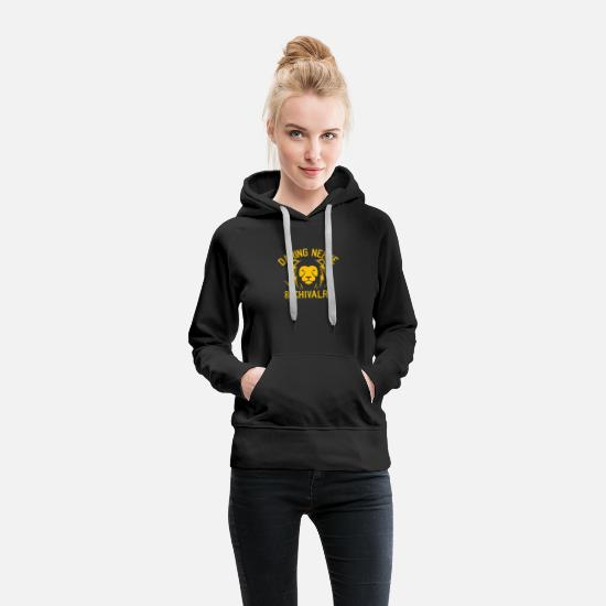 Symbol  Hoodies & Sweatshirts - DARING NERVE AND CHIVALRY - Women's Premium Hoodie black