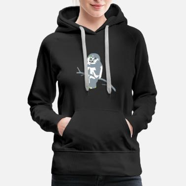 Polygon owl - choose your own 3 colors! - Women's Premium Hoodie