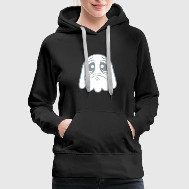 crying sad tears unhappy offended ghost cute cute - Women's Premium Hoodie