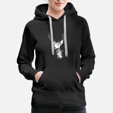 Deer Head A white deer head - Women's Premium Hoodie