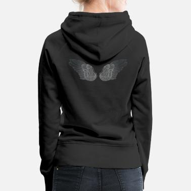 Angel's Wings Silver Angel Wings - Women's Premium Hoodie