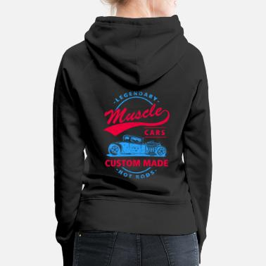 V8 Legendary Muscle Cars Custom Made Hot Rods V8 - Women's Premium Hoodie