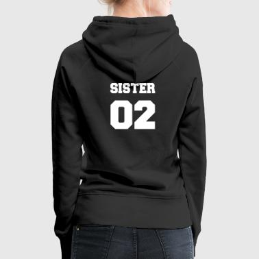 Women's Sister 01, Sisters, Siblings, Family, Giftideas - Women's Premium Hoodie