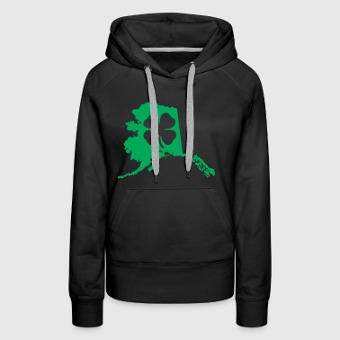 Alaska Usa Saint Patricks Day Map - Women's Premium Hoodie