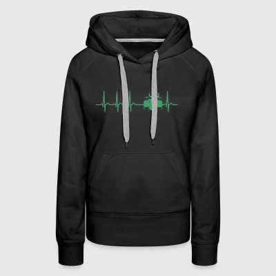 Heartbeat Drums Drummer Sticks Cool Funny Gift - Women's Premium Hoodie