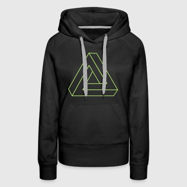 Impossible Triangle 3D - Women's Premium Hoodie