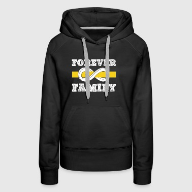 Thin Gold Line Family Forever T Shirt - Women's Premium Hoodie