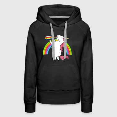 Drunken Unicorn Rainbow - Women's Premium Hoodie
