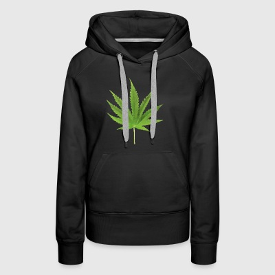 Weed low polygon effect - Women's Premium Hoodie