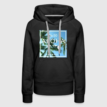 Aloha Hawaii Beach Palms - Women's Premium Hoodie