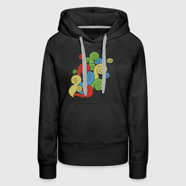 Bright Color Swirls - Women's Premium Hoodie