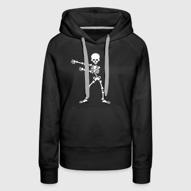 The floss dance flossing backpack boy kid skeleton - Women's Premium Hoodie