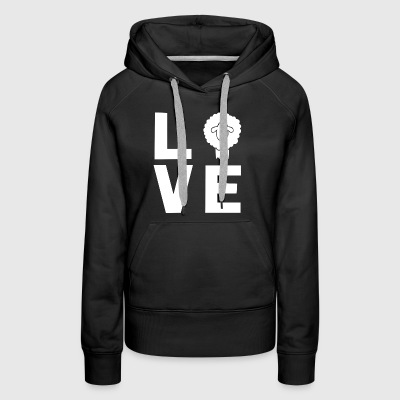 Love Sheep Statement - Women's Premium Hoodie