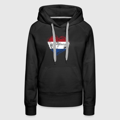 HOME ROOTS COUNTRY GIFT LOVE Holland - Women's Premium Hoodie