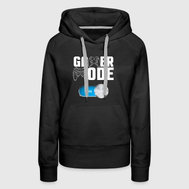 Gamer Mode on Cool Video Game T-shirt - Women's Premium Hoodie