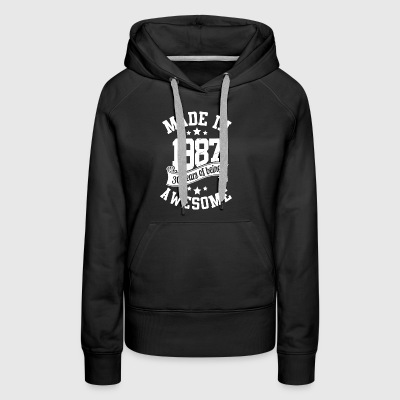 Made in 1987 30 years of being awesome - Women's Premium Hoodie