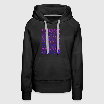 Full Time SOCIAL WORKER Overtime Mother - Women's Premium Hoodie