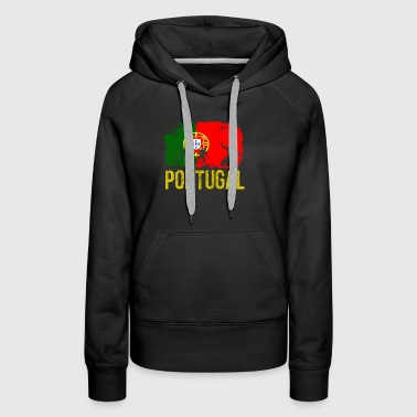 Portuguese soccer player flag of Portugal Long Sle - Women's Premium Hoodie