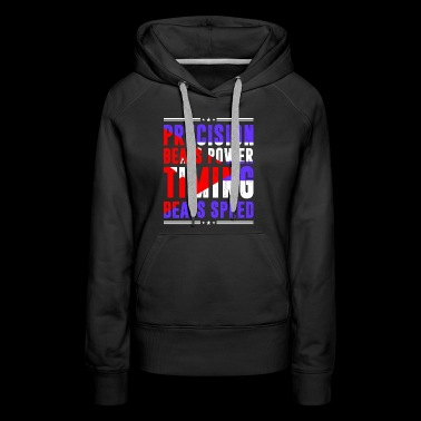 Precision Beats Power Timing Beats Speed Cuban - Women's Premium Hoodie