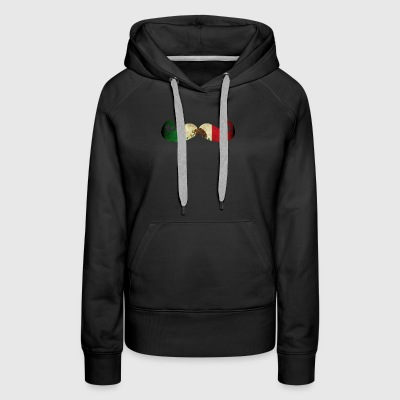Cool Mexican Shirt Mexican Flag Moustache Shirt for Mexican Pride - Women's Premium Hoodie