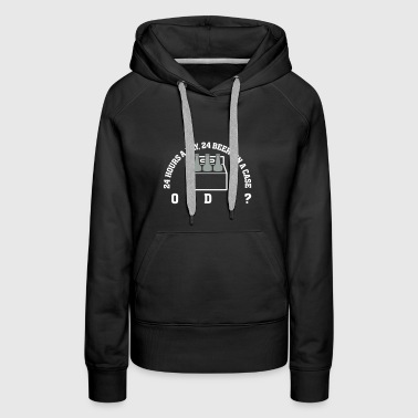 24 Hours A Day ,24 Beers In A Case,Coincidence? - Women's Premium Hoodie