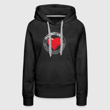 Im A Gamers Girl Gamer Shirt Funny Gamer Shirt Heart - Women's Premium Hoodie