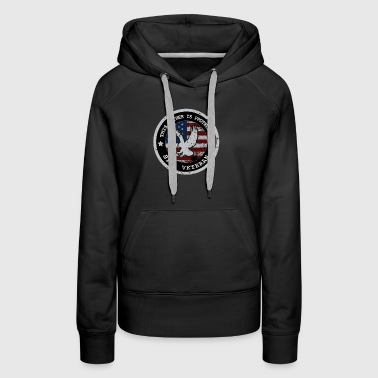 Father Is Protected By A Veteran T Shirts For Men & Dad - Women's Premium Hoodie