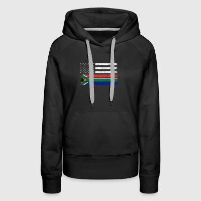 South African American Flag - USA South Africa Shi - Women's Premium Hoodie
