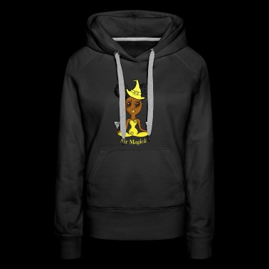 African American Air Witch - Women's Premium Hoodie