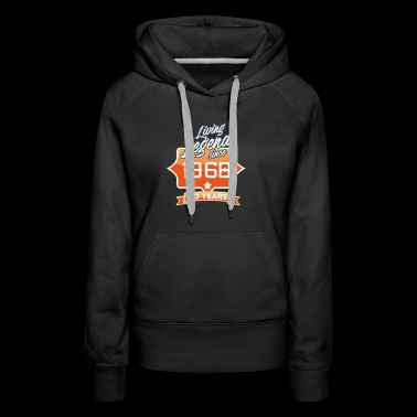 LIVING LEGEND SINCE 1968 50th Birthday Gift Idea - Women's Premium Hoodie