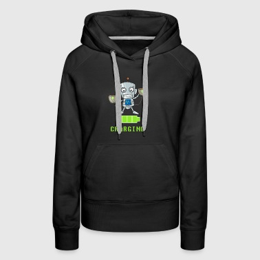 Coffee lovers charging funny - Women's Premium Hoodie