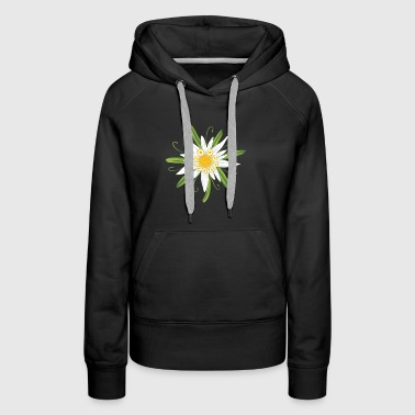 Edelweiss, big flower for the Oktoberfest. - Women's Premium Hoodie