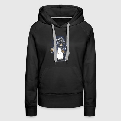 Gas Mask Bastard. The crazy thug and streetfighter - Women's Premium Hoodie