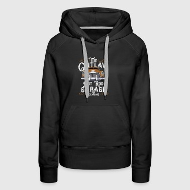 (Gift) Old Car - The Outlaw Hot Rod Garage Genuine - Women's Premium Hoodie