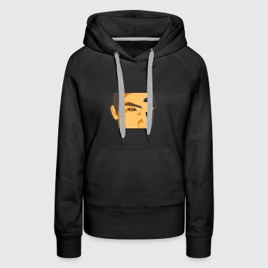 Face Of A Man Spying - Women's Premium Hoodie