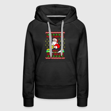Merry Christmas happy new beer Ugly Christmas - Women's Premium Hoodie