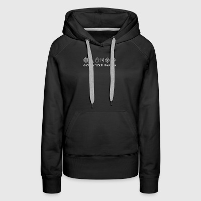 Choose Your Weapon Dice Gamer - Women's Premium Hoodie