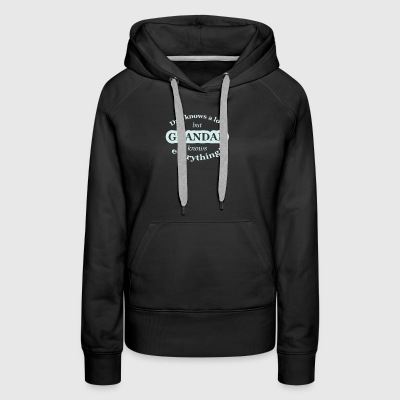 Dad Knows A Lot But Grandad - Women's Premium Hoodie